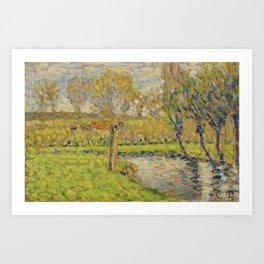 Camille Pissarro 1830-1903 EDGES OF EPTE Eragny Art Print