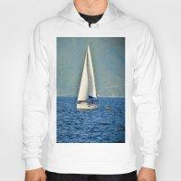 sailboat Hoodies featuring Sailboat by Joe Mullikin