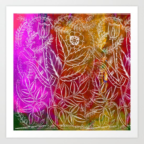 Into the artifice of eternity Art Print