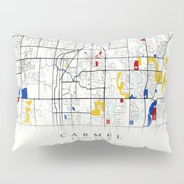 Carmel Indiana Map with GPS location Pillow Sham