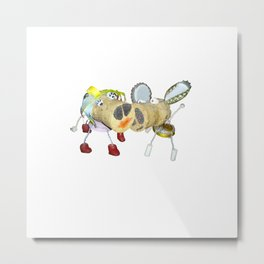 Tipsy Couple Metal Print