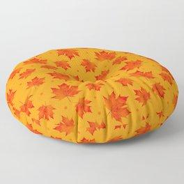 Autumn Maple Leaf Fall Leaves Floor Pillow