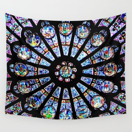 Cathedral Stained Glass Wall Tapestry
