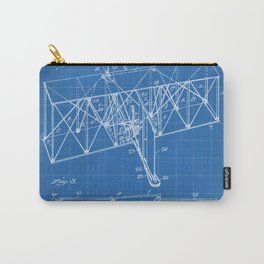 Wright Brother's Machine Patent - Airplane Art - Blueprint Carry-All Pouch