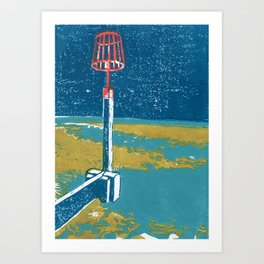 Seaview Fire Beacon in Turquoise Art Print