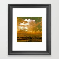 It Lights the Whole Sky Framed Art Print