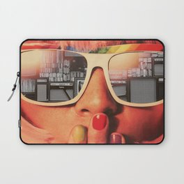Retro Girl Laptop Sleeve