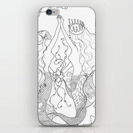 Two mermaids, many pearls iPhone Skin
