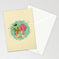 The Pond Lovers - Mr. Froggy and Ms Goldfish Stationery Cards
