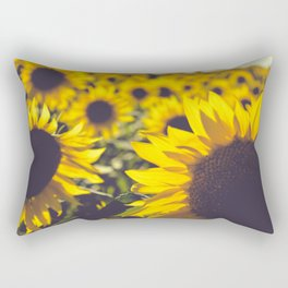 Summer Sunflower Love Rectangular Pillow