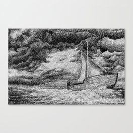 Fingerprint - Sailing Canvas Print