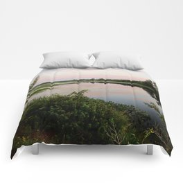 Pennamaquan River at Sunset Comforters
