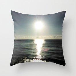 Shortly after sunrise near Nessebar beach, Bulgaria, the Black Sea Throw Pillow