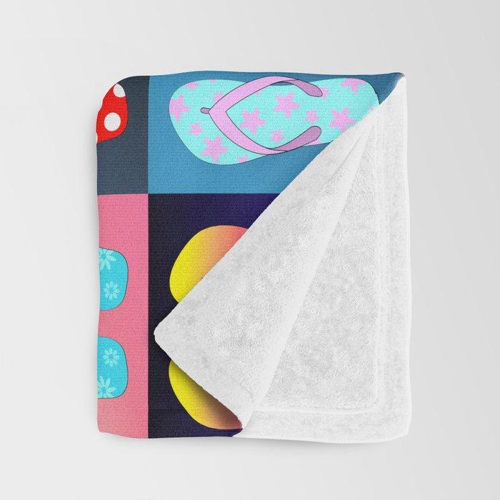 Flip Flop Pop Art Throw Blanket By Julieerindesigns Society40 Amazing Flip Flop Throw Blanket