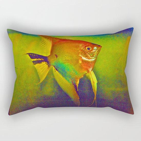 Red Angel Rectangular Pillow