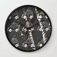 cars Wall Clocks featuring Cars by Art & Fantasy by LoRo