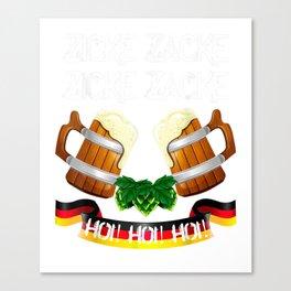 Zicke Zacke Hoi Hoi Hoi Oktoberfest 2019 Munich Beer Fest  T-Shirt Canvas Print