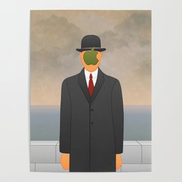 Magritte x Apple Poster