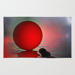 just red - square format Rug