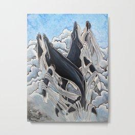 Sky Whales Metal Print