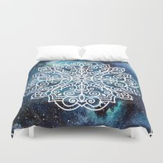mandala and nebula Duvet Cover