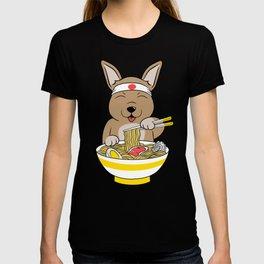 Chihuahua Eating Ramen  T-shirt