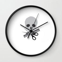 Barber skull Wall Clock