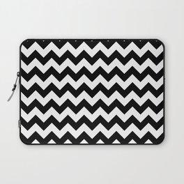 Black and White Chevron Print Laptop Sleeve
