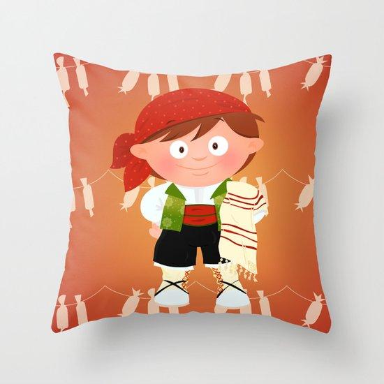Fallero Throw Pillow