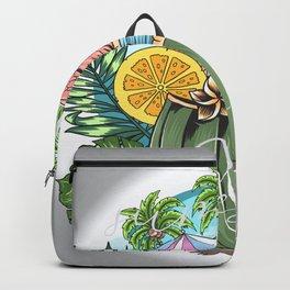 summer flamingo design Backpack
