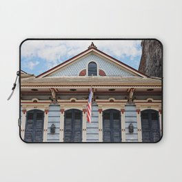 New Orleans American Creole Cottage Laptop Sleeve
