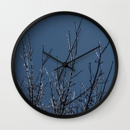 Icy Silhouettes Wall Clock