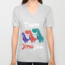 Team Dinosaur (Colorful) Unisex V-Neck