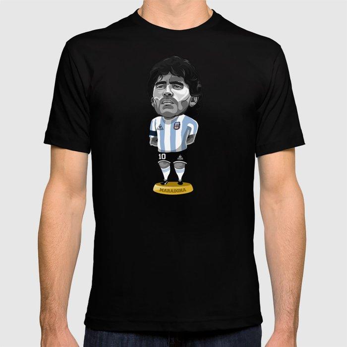 Footy Figures Maradona T Shirt By Rudigundersen Society6