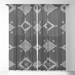 UrbanNesian Black and White Malu Sheer Curtain