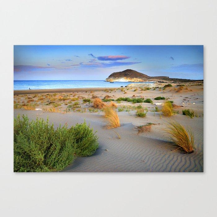 """Genoveses Beach"" Sunset at beach Canvas Print"