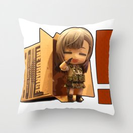 Sneaking Mission! Throw Pillow