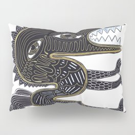 decorative surreal dragon Pillow Sham
