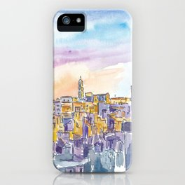 Matera Basilicata Italy Sassi Sunset iPhone Case