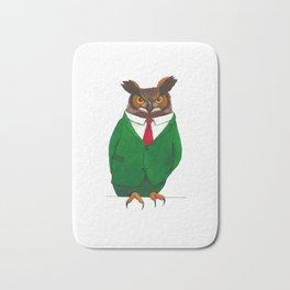Owl in suit Bath Mat