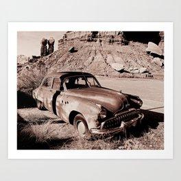 Desert Junker Classic Car Art Print