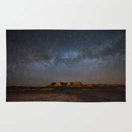 Across the Universe - Milky Way Galaxy Above Mesa in Arizona Rug