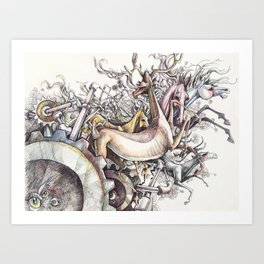 Twisted Menagerie Art Print