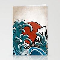 hokusai Stationery Cards featuring Hokusai comic by Nxolab