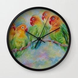 PARROTS, PARROTS, PARROTS Wall Clock