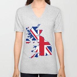 England Flag Unisex V-Neck