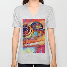 Frog Watercolor Unisex V-Neck
