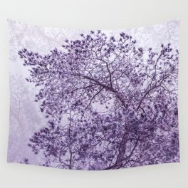 Beautiful Pine Tree Silhouette Purple Color #decor #society6 #buyart Wall Tapestry