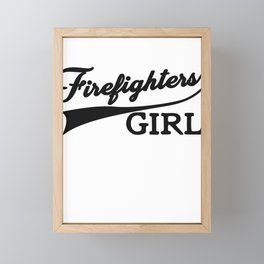 Fire Fighters Girl Framed Mini Art Print