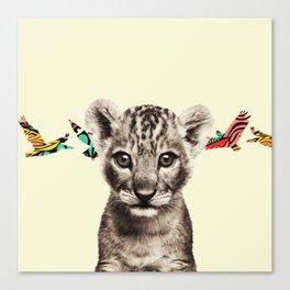 flighty cub Canvas Print